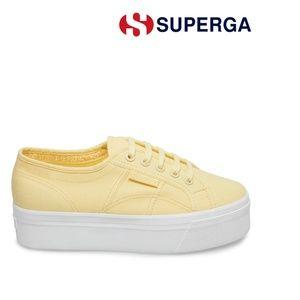 Platform Superga sneaker yellow (BEIGE CREAM 2790)